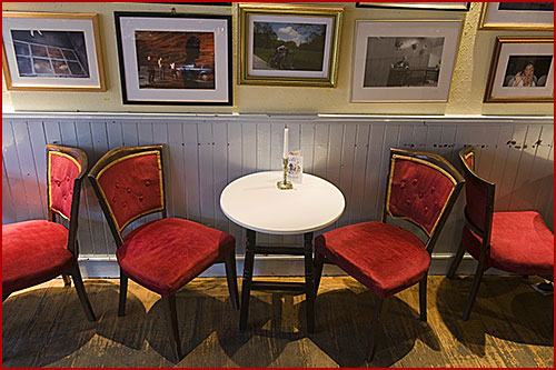Table for two in Sofi's Bar in Leith